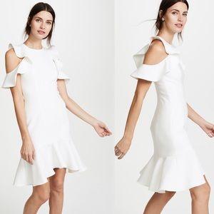 Cinq a Sept Micah Ruffle Cold Shoulder Dress